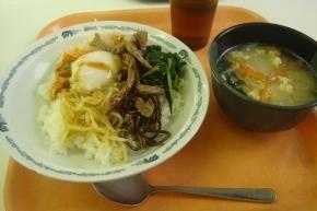ビビンパ ・ 玉子スープ