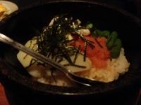 明太子とイカの石焼ご飯