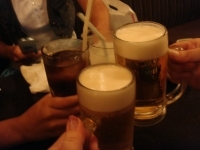皆でかんぱーい((8-(o・ω・)o□☆□o(・ω・o)-8))乾杯♪