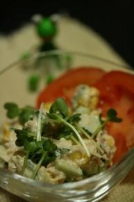 トマト・ツナコーンキュウリサラダ