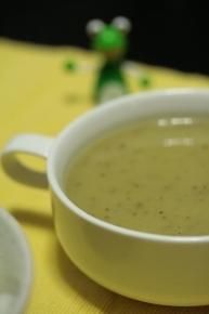 さつまいもポタージュ♪ 皮も入っており、焼き芋味なスープとなりました(゚∀゚;)