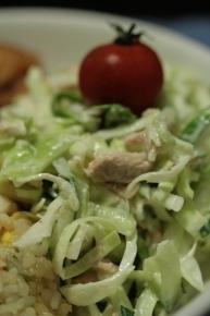 キャベツ・キュウリ・ツナのサラダ♪マヨで合えてあります♪