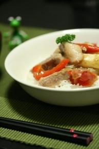 豚ネギの塩トロ炒め丼