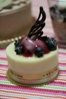 ブルーベリーのレアチーズ
