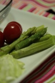 茹でアスパラ&プチトマト