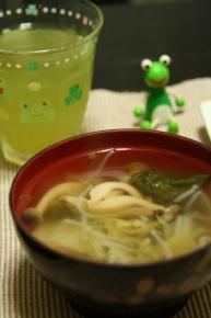 前日の残りのスープ
