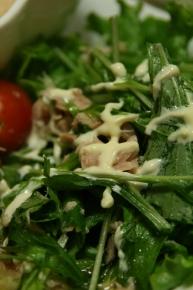 水菜とツナのサラダ・・・っちゅうか切って盛っただけ(つω`*)