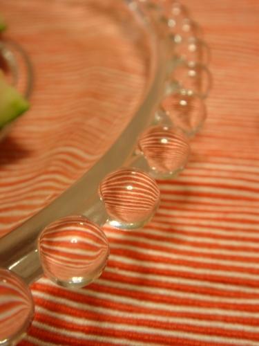 グラサックス・ポイントガラスガラスプレート 19センチ