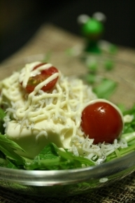 豆腐とジャコと水菜のサラダ♪