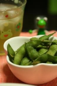 枝豆 ケロケロ&涼煎茶