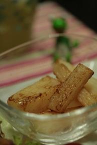 長イモのバター醤油焼き