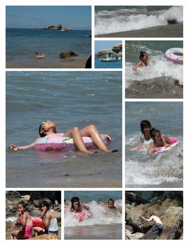 赤井浜海岸で海遊び~